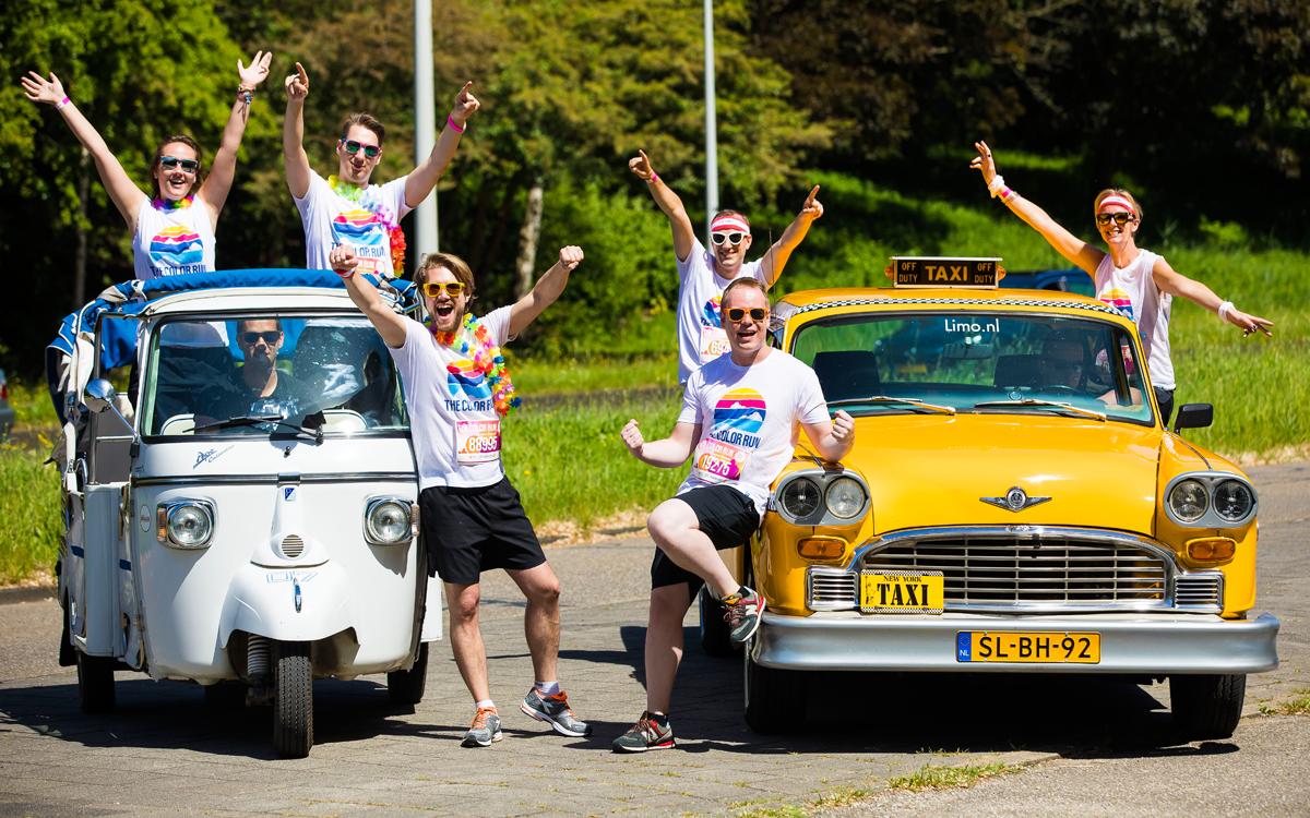 groepsuitje gele taxi