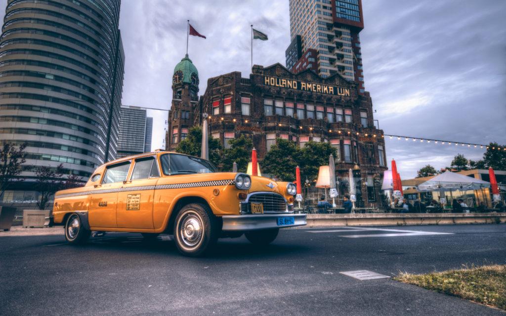 holland amerika lijn new york gele taxi origineel