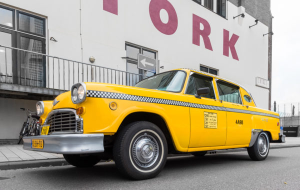 hotel new york gele taxi origineel