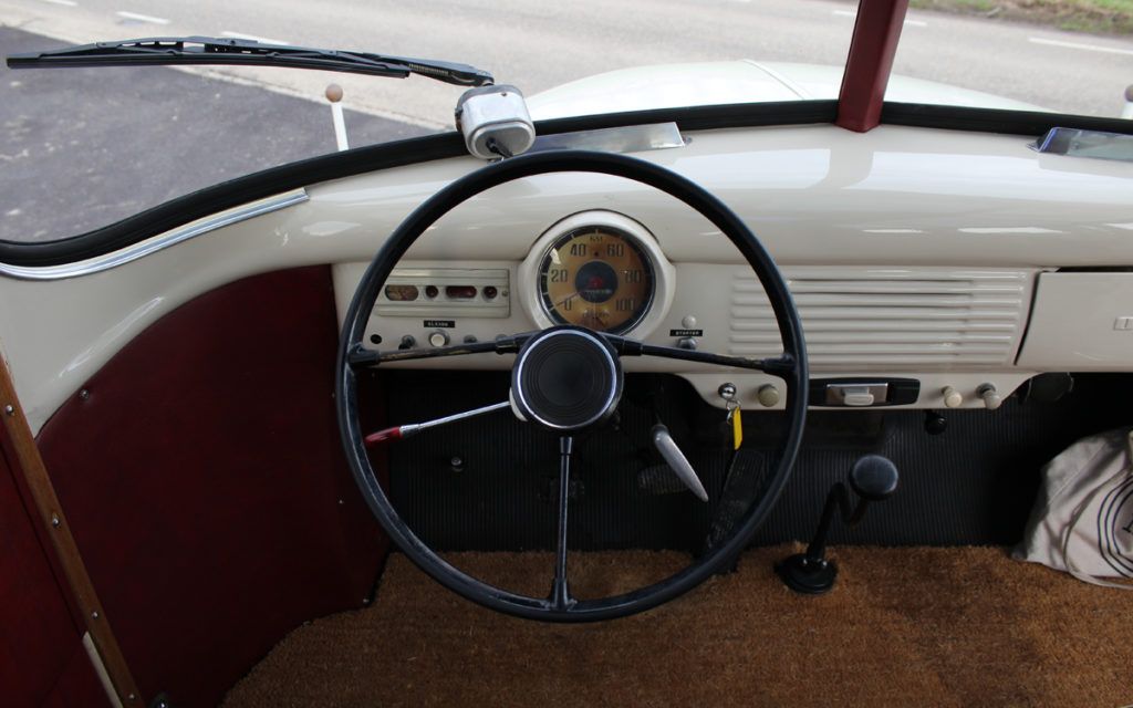 Interieur oldtimer bus