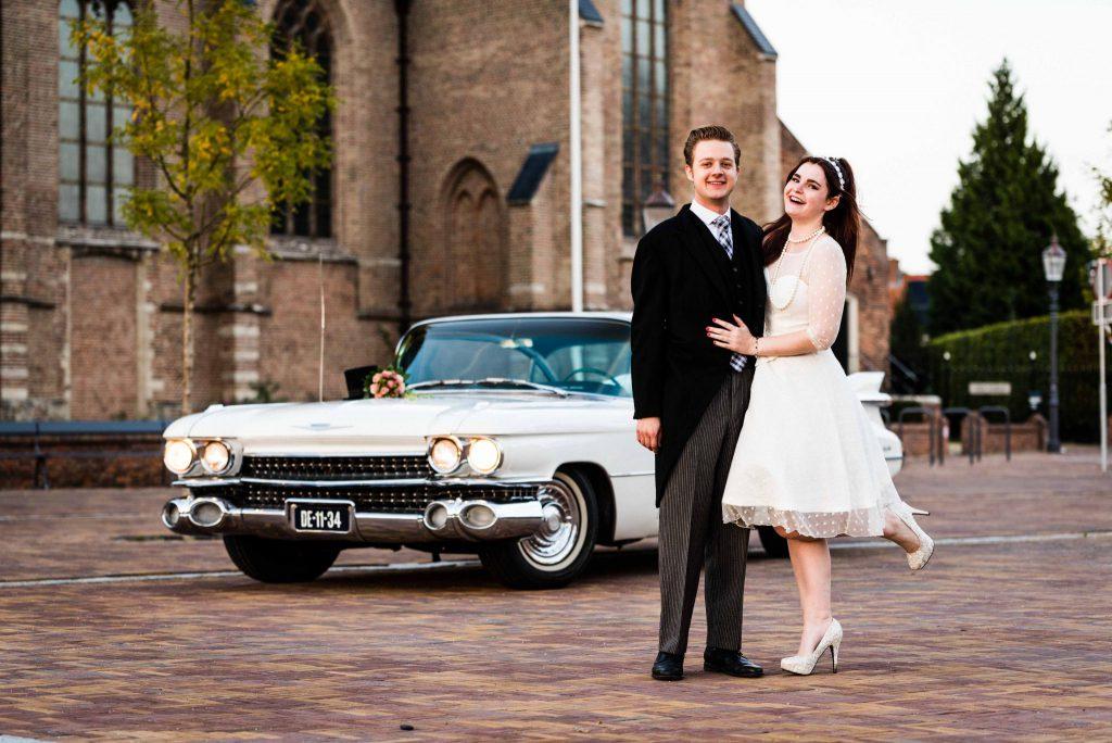 Cadillac bruidspaar